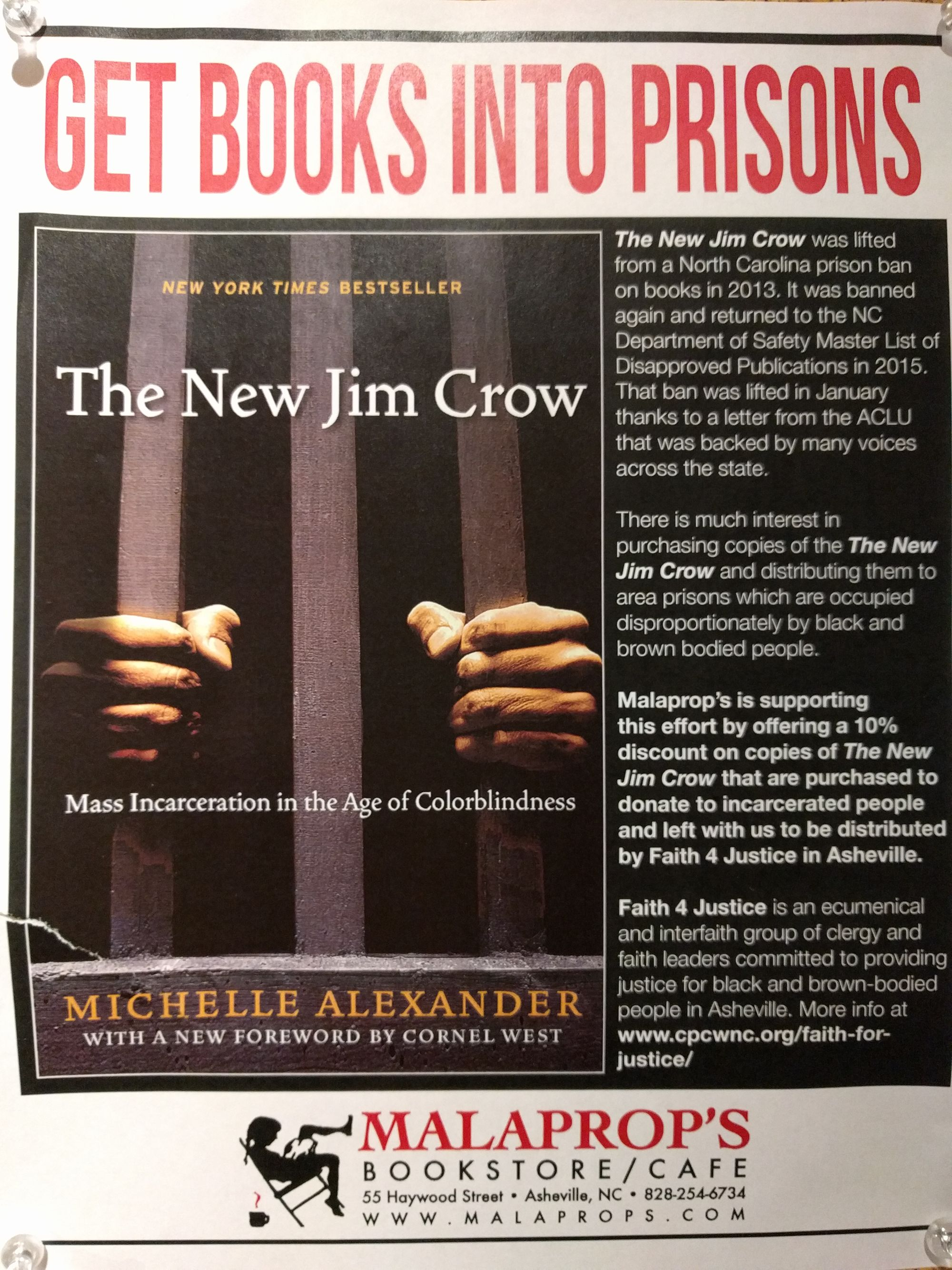 New Jim Crow on its way into NC prisons!